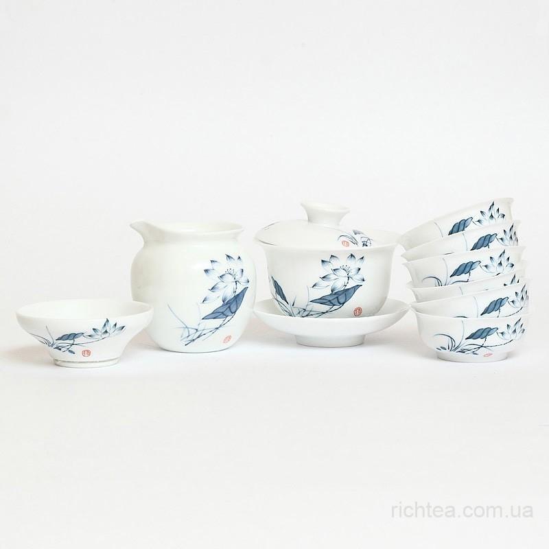 Сервиз для чайной церемонии из тонкого фарфора