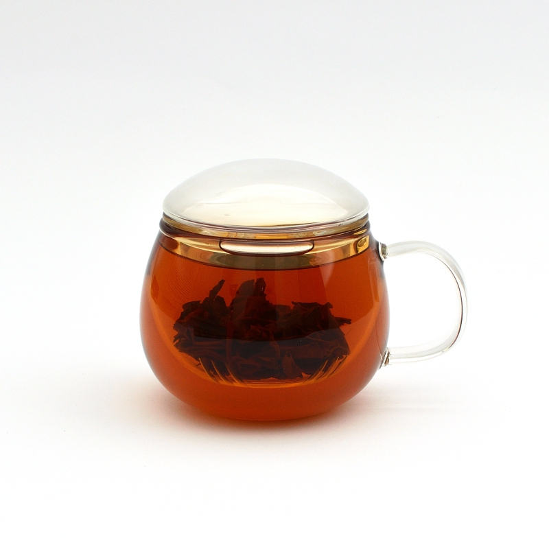Стеклянная чашка - заварник, 300 мл