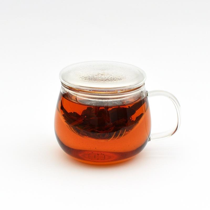 Стеклянная чашка заварник, 300 мл